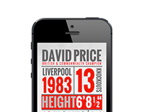 David Price iPhone App
