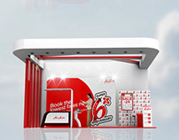 EXHIBITION DESIGN //Backdrop & Stage for Air Asia