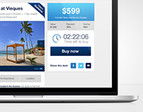 Gustazos website concept