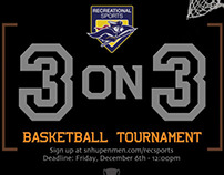 3 on 3 Basketball Tournament Flyer