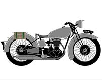 Vintage Motorcycle Illustration