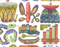 Peruvian Folk Art Textile