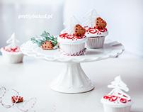 Christmas tree vanilla cupcakes