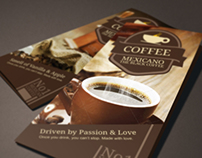 Coffee Brochure Mexicano | Modern Design