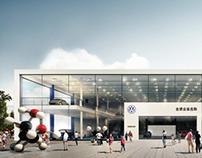 Two-Storey Volkswagen Dealer - Concept