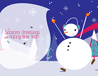 """Season's Greetings and Happy New Year"" Ecard"
