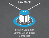 Session Drummer Business Card