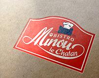 Bistro MINOU le Chatan - logo,sign