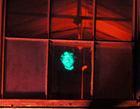 Hologram at the Experimental Radiation Lab display