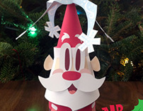 Mr. Merry papertoy