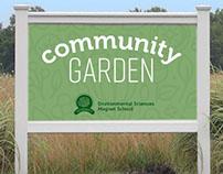 Sign for garden at Moriarty