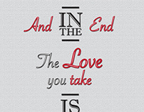 The End - Beatles Lyric Art