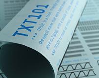 TXT101 font + poster