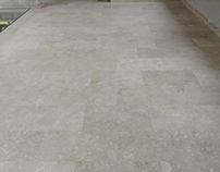 Römischer Travertin geschliffen Fußboden