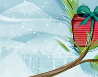 Fort Collins Magazine: Holidays Unwrapped Illo