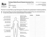 Medical Form Redesign for Wilderness Awareness School