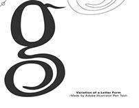 Variation of a Letter Form