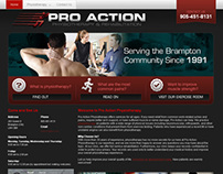 Pro Action Website 2012
