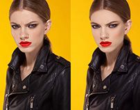 Retouching Skin Using Frequency Separation