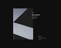 documenta – experimental typography