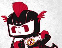 Chicago Blackhawks themed superhero
