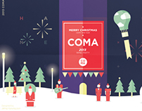 COMA Wine party poster