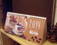 "Calendar 2014 ""Time for coffee"""