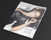 Photorealistic A5/A4 Magazine Mock-up
