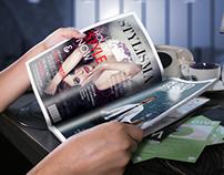 Ultra realistic magazine mockup