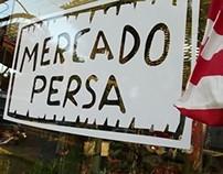 MERCADO PERSA | Logo, ploteo vehicular y vidriera.
