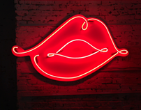 SHISEIDO neon design