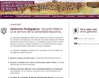 Web Gabinete Pedagógico de Sevilla