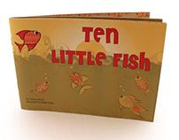 """Ten Little Fish"" Children's illustrated book"