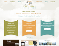Createscape Design Studio Website