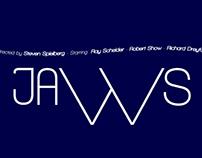 Typographic Film Posters