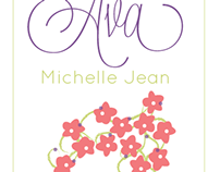 Flowery Birth Announcement