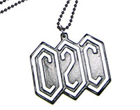 """C2C"" LOGO NECKLACE & KEY RING"