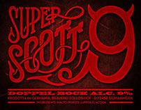 Super Scott 9 - beer label