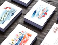 Christmas cards series