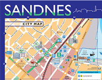 Sandnes City Map Norway