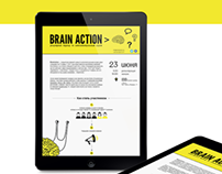 Brain Action. Landing page.