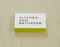 KITCHEN AND BATHROOM 名刺(植田正)