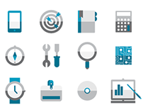 Office Work Icon Set