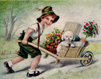 A restored vintage greeting card