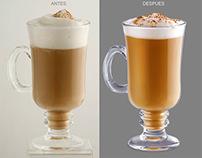 Retoque: Taza de café cappuccino