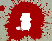 серия плакатов для фильма «Беспечный енот»