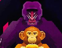 Elmer y sus 10 años  en los monos