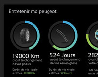 Peugeot Welcome portal :  dashboard
