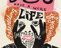 Vivienne Westwood Typographic Poster