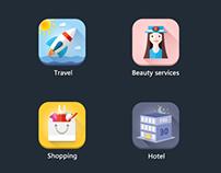 IOS7 Color flat icon
